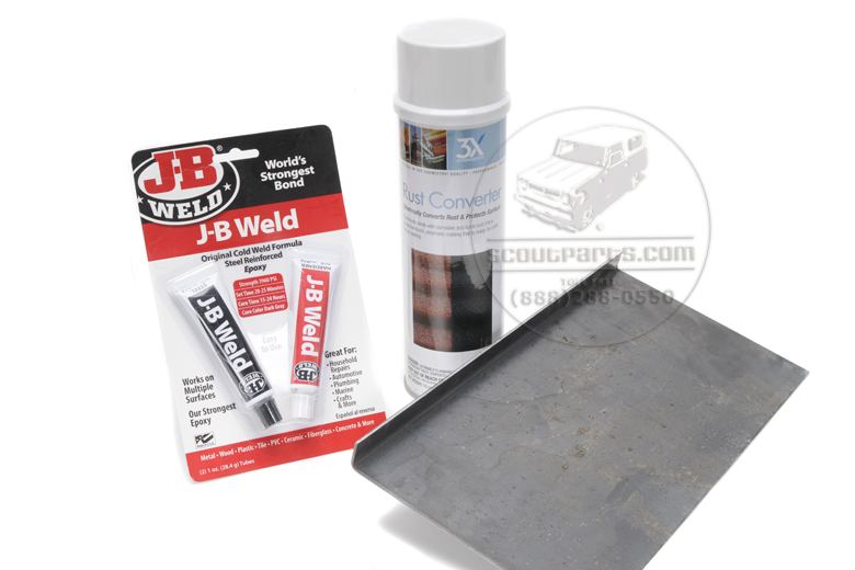 Scout II Sheet Metal Repair Kit for Door Seal Floor Bend