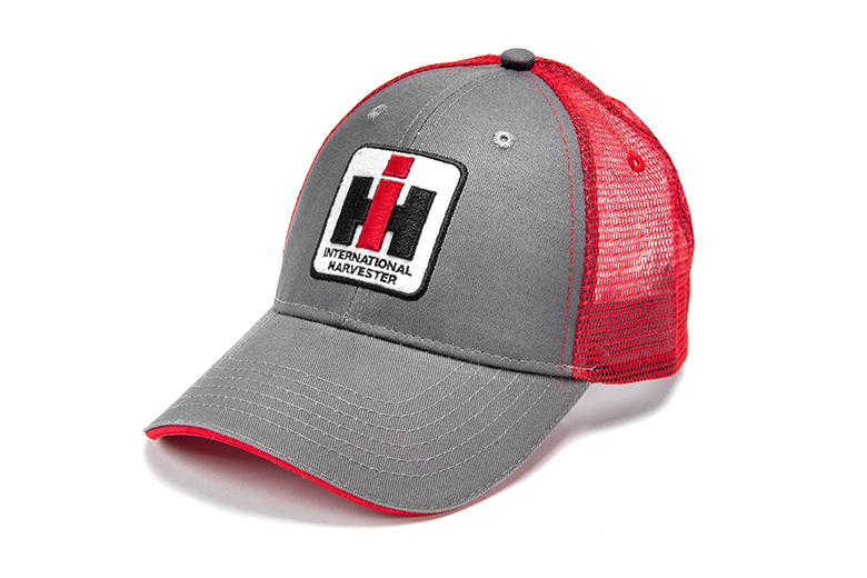 Grey And Red Mesh IH Hat, As Featured in Netflix Show, Outer Banks