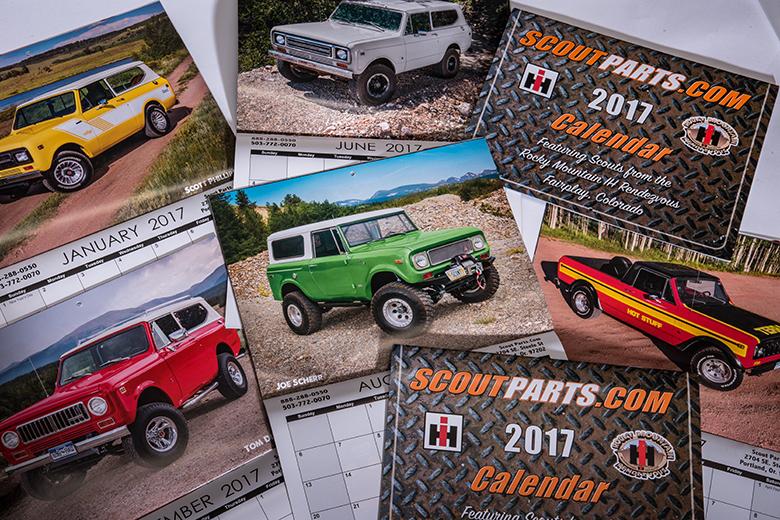Scout II, Scout 80, Scout 800 2017 IH Scoutparts.com Calendar - Sold Out