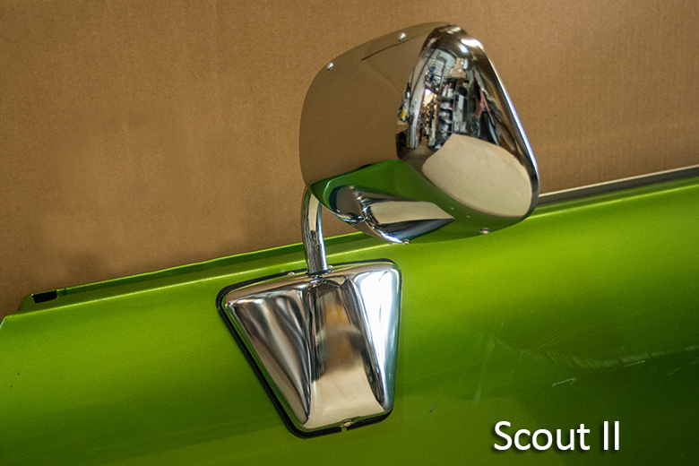 Scout II, Scout II Diesel - Aero Side View Mirror - Chrome