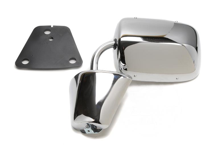 Scout II Aero Side View Mirror - Chrome