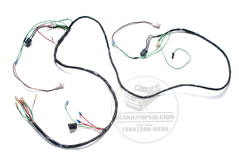 Scout II Headlight Wiring Harness 1979 & 80 Gas And Diesel