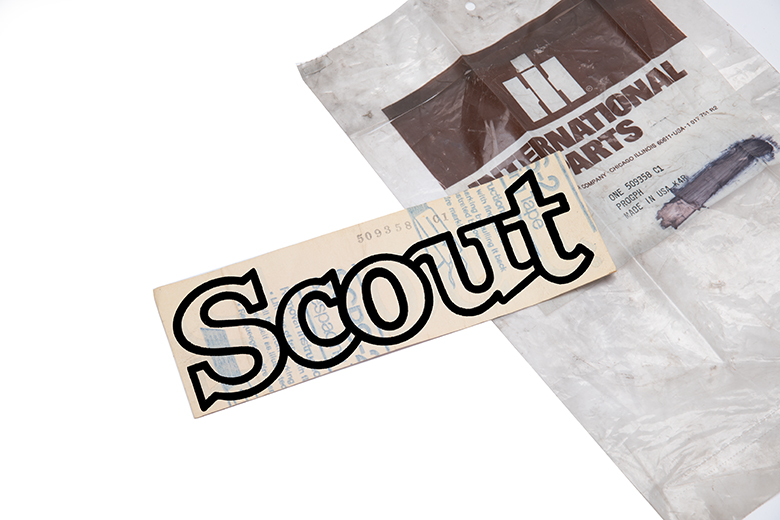 "Scout II decal ""Scout"" - new old stock"