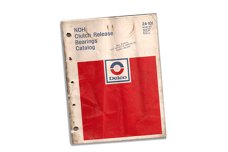 1971 DELCO NDH CLUTCH RELEASE BEARINGS AUTOMOTIVE CATALOG 2A-101