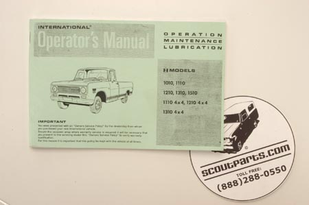 Operators Manual  - 1971