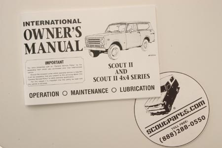 1971 - 1972  Owners Manual