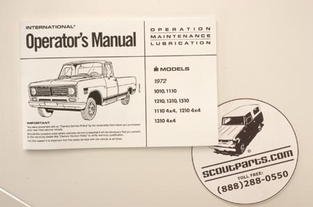 1972 Pickup Owners Manual