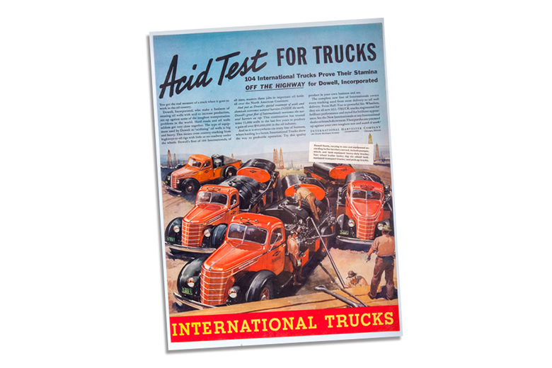 "International Trucks Ad ""Acid Test For Trucks"""