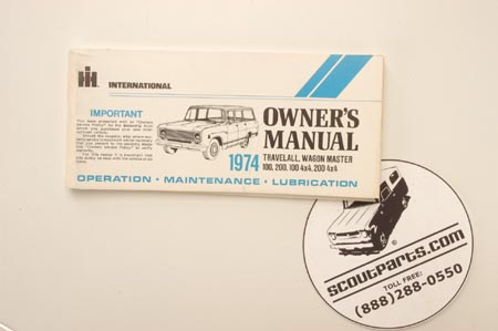 1974  Owners Manual