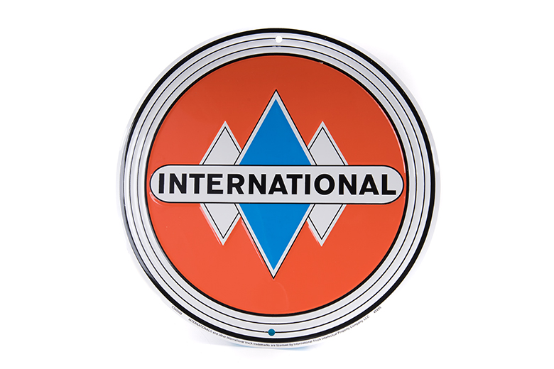 International Truck Diamond Circle Sign