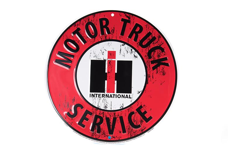 IH Motor Truck Service Round Sign