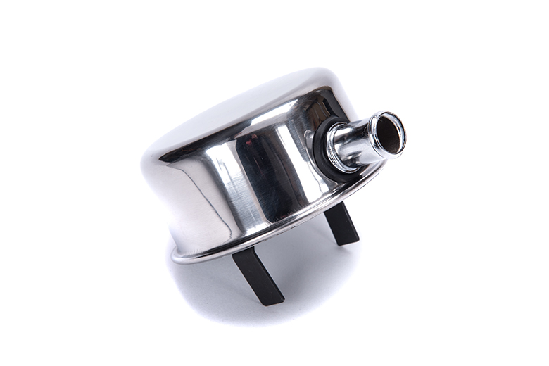 Cap Oil Breather Chrome with crank case ventilation nipple