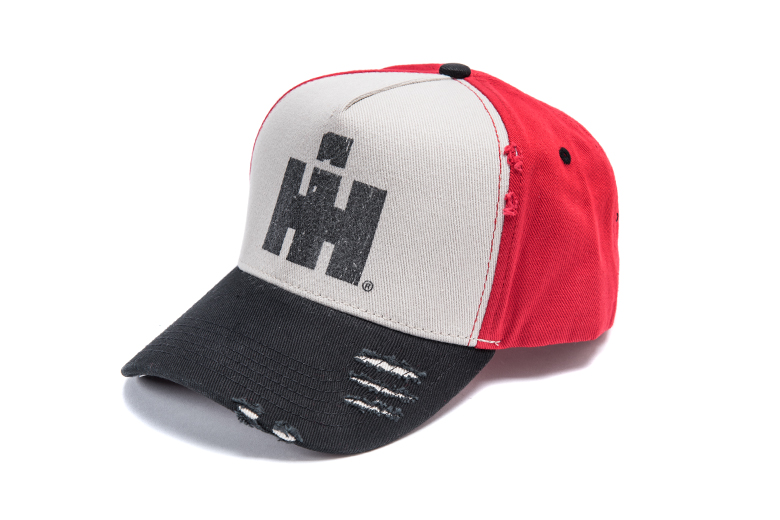 IH Logo Distressed Logo Hat -  Black and Red