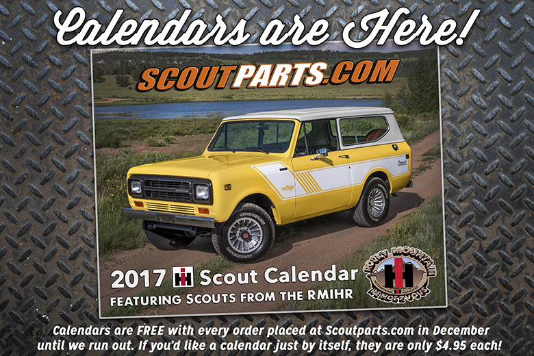 2017 IH Scoutparts.com Calendar - Sold Out