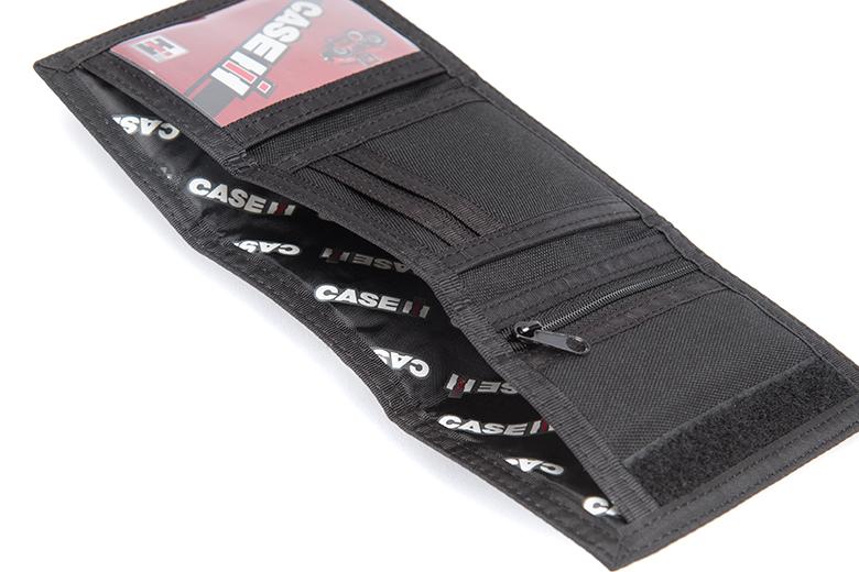 Black IH Tri-Fold Wallet