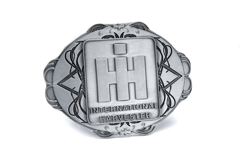 Oval Metal IH Belt Buckle