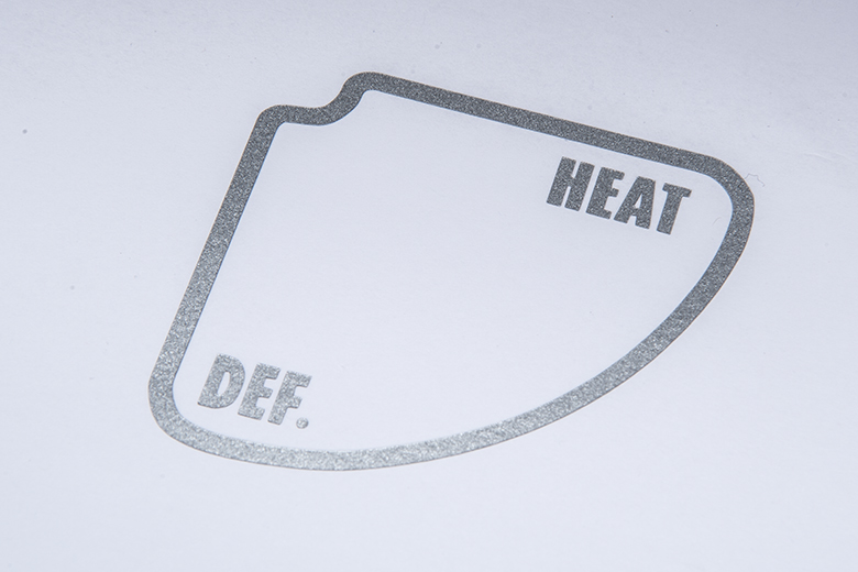 HeatDefrost Decal, Metallic Silver