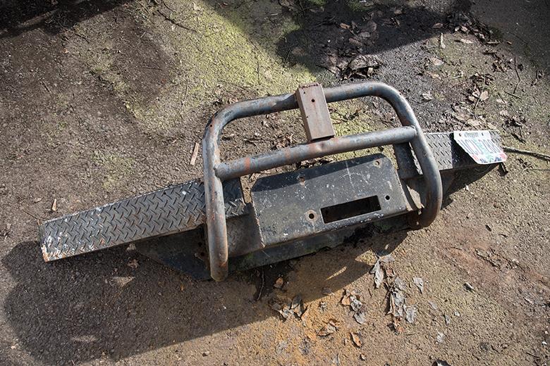 Scout II Front Bumper - Winch Mountable - Used - VERY HEAVY DUTY