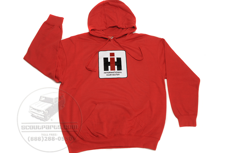 Red Hoodie Pull Over -IH Logo On Front