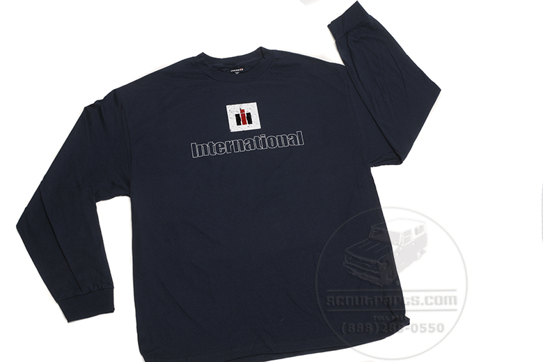 Navy Blue, Distressed IH logo -