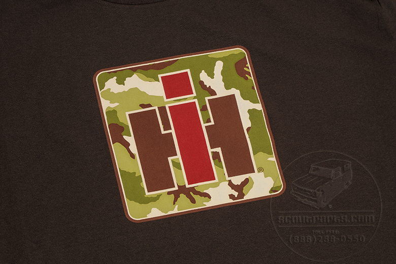 Brown IH Logo, in Camouflage