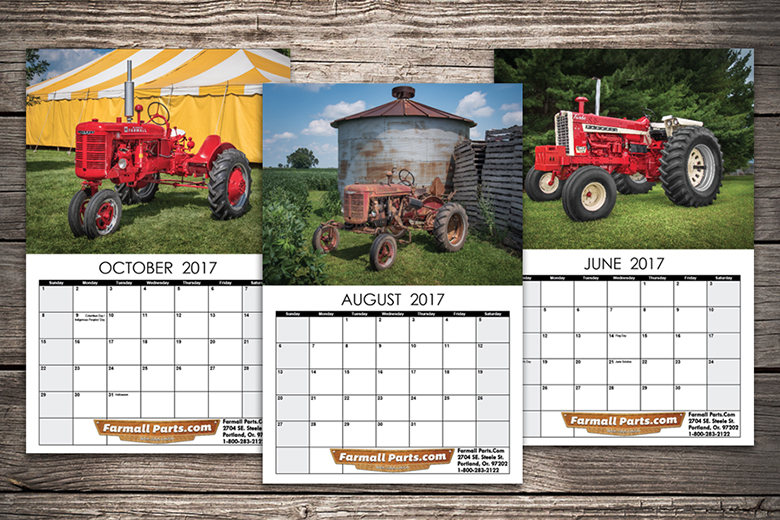 2017 Farmall Calendar - All New, Original, Color Photography