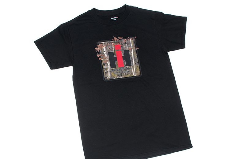Camo IH Logo On Black T Shirt