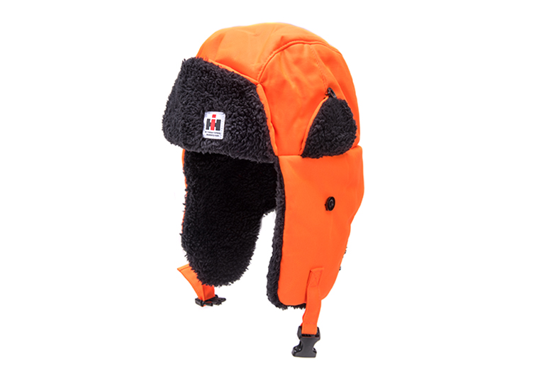 IH Blaze Orange Trapper hat
