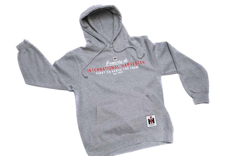"""Property of International Harvester"" hooded pullover"