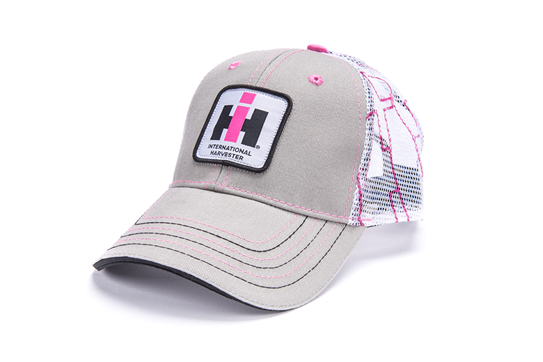 Womens Grey and Pink IH Logo Cap