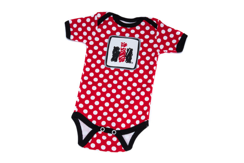 IH Logo Baby Onesie With Polka Dots