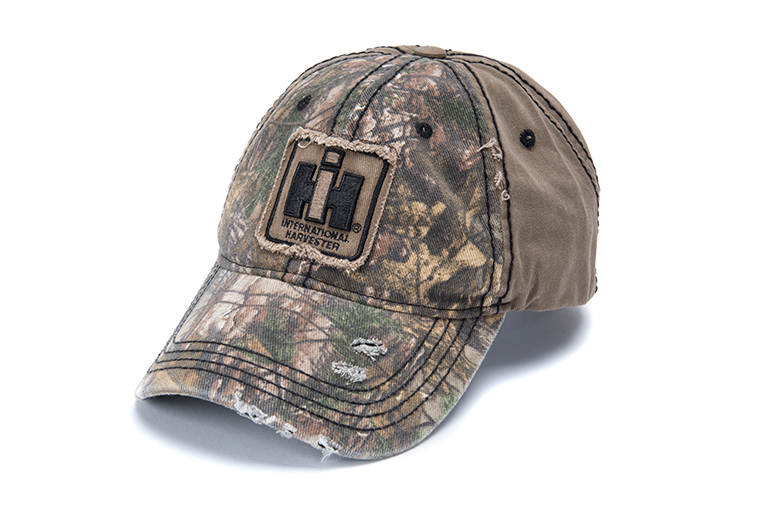 Two-Tone Distressed Camouflage Hat, Cap