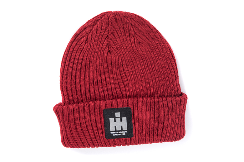 Red IH Stocking Cap, Knit Winter Hat
