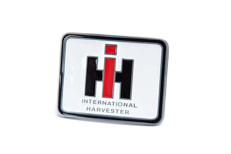 Black Leather Belt with IH Logo On Belt Buckle