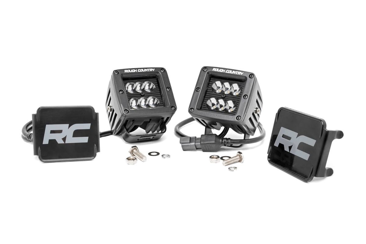 Scout II, Scout 80, Scout 800 2in Square Rough Country CREE Black Series LED Fog Lights
