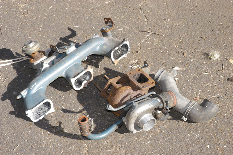 Intake Manifold with Turbo - used