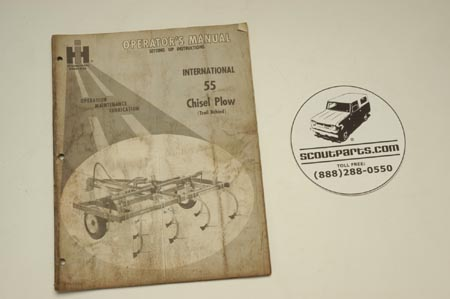 International 55 Chisel Plow Operation Manual 1018231R7