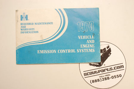 Scout II Emission Control System Manual (ECS) - 1973