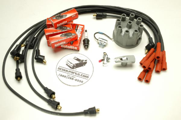 Tune Up Kit 8 Cylinder Non Electronic Ignition Holly Dist.