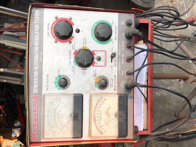 Scout II, Scout 80, Scout 800 Alternator Generator Tester Complete With Rolling Stand, Directions And All Test Leads Vintage Marquette T-201