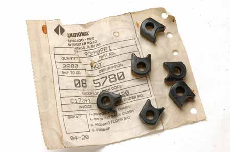 Scout 80 Headlight Adjuster Nut Plate  - NEW OLD STOCK