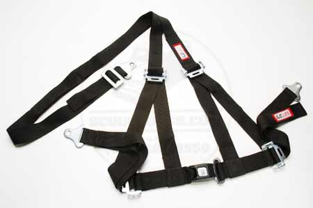 Black, Seat Belt Harness System - Off Road