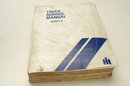 Scout II Service Manual -  Original Factory 1971-1975
