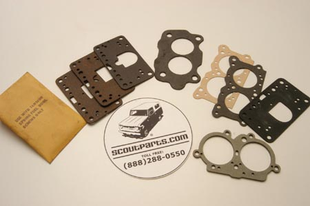 Scout II, Scout 800 Scout Two Barrel Carb Rebuild Gasket Set