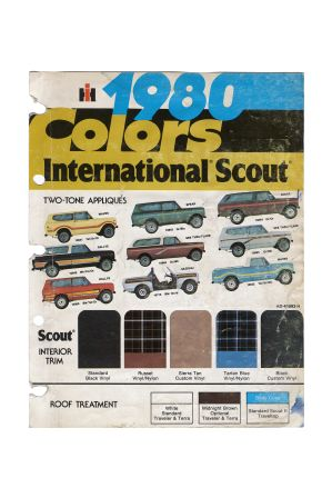 Scout II Color Chart - Original 1980  Reproduction.