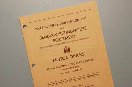 Part Number Conversion List For Bendix-Westinghouse