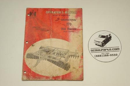 Operators Manual - Disk Harrow