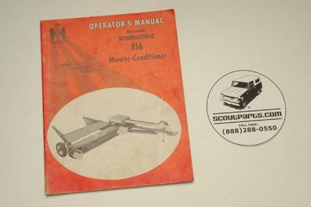 Operators Manual - Mower-Conditioner