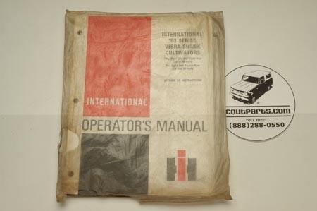 Operators Manual - 153 Series Vibra Shank Cultivators