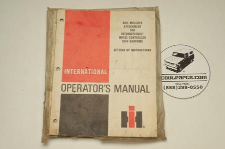 Operators Manual - Soil Mulcher Attachment1096625R1.8-81